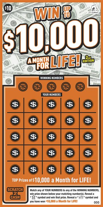 WIN UP TO $10,000 A MONTH FOR LIFE 2nd ED. image