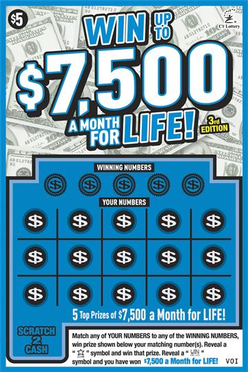 WIN UP TO $7,500 A MONTH FOR LIFE 3RD ED image