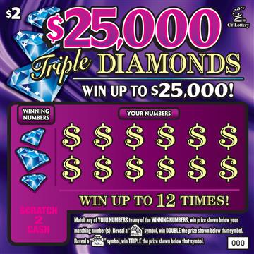 $25,000 TRIPLE DIAMONDS image
