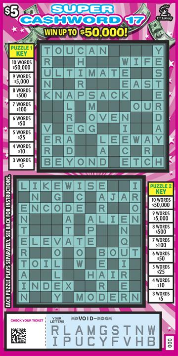 SUPER CASHWORD 17 rollover image
