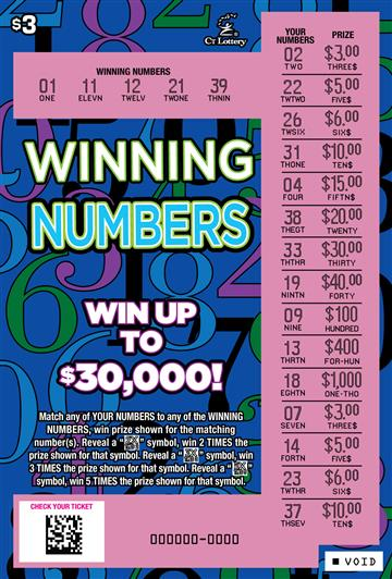 WINNING NUMBERS rollover image