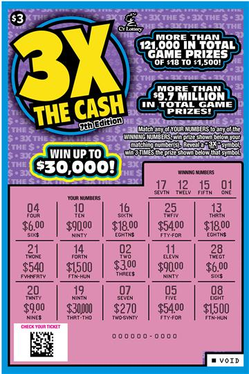 3X THE CASH 7TH EDITION rollover image