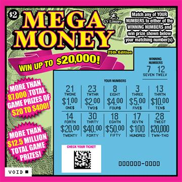 MEGA MONEY 25TH EDITION rollover image