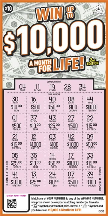 WIN UP TO $10,000 A MONTH FOR LIFE 2nd ED. rollover image