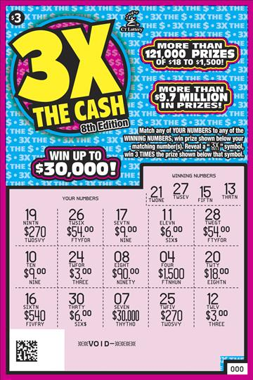 3X THE CASH 8TH EDITION rollover image