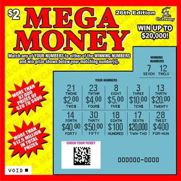 MEGA MONEY 26TH EDITION rollover image