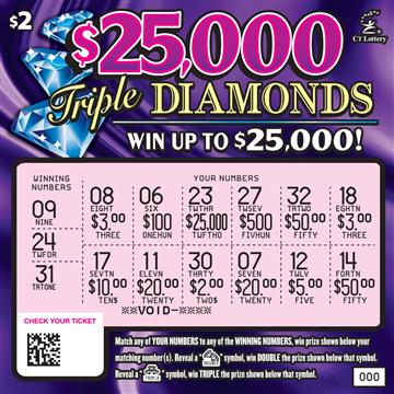 $25,000 TRIPLE DIAMONDS rollover image