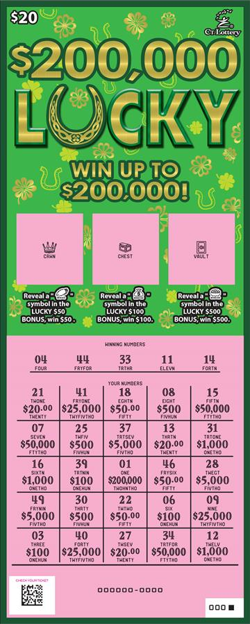 $200,000 LUCKY rollover image