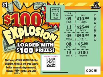 $100 Explosion rollover image